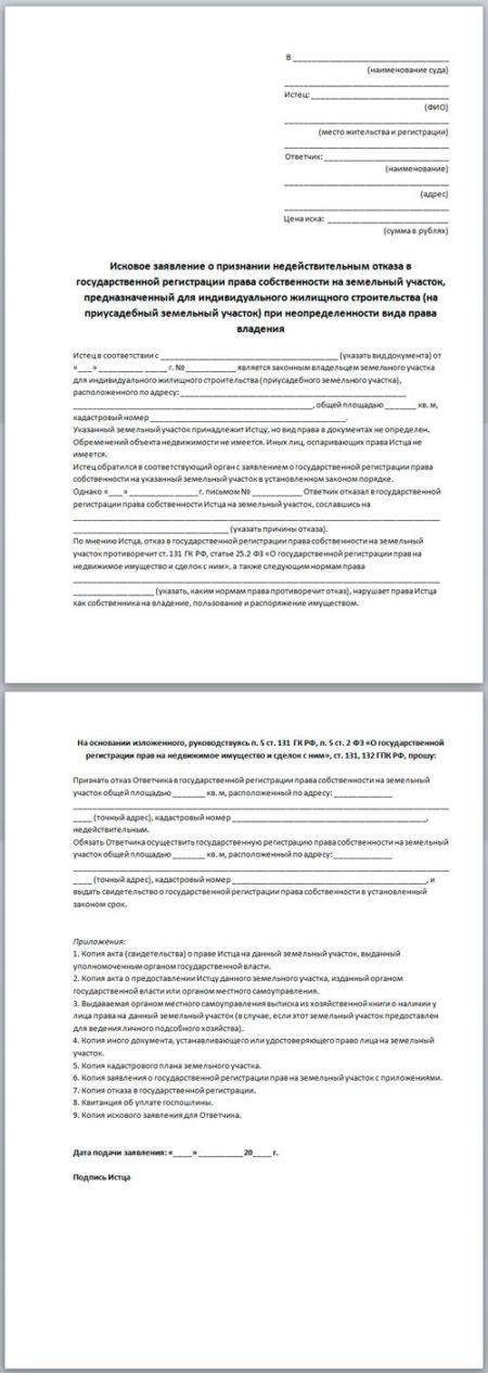 Изображение - Отказ от права собственности на земельный участок iskovoe-zayavlenie-o-priznanii-otkaza-nedejstvitelnym-e1527621296461