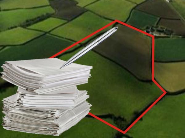 Местоположение границ земельного участка устанавливается посредством